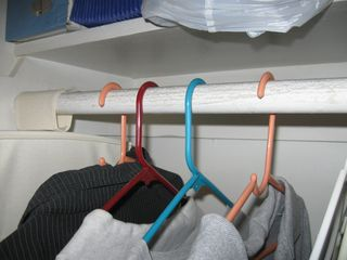 Clothes Hanging in a Closet for a Red Tag Event at Lean for Everyone
