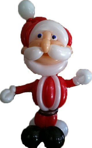 Santa-Claus-Balloon-Animal-Christmas
